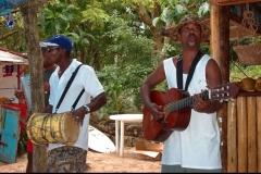 musicien, merengue, Caya Levantado, Samana, Baie, République Dominicaine, Caraïbes