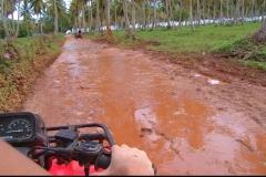 quad, terre rouge, Las Galeras, République Dominicaine, Caraïbes