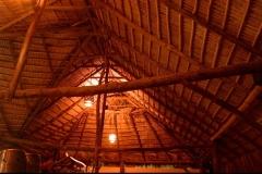 toiture, pandanus, Las Galeras, République Dominicaine, Caraïbes