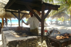BBQ, plage, Isla Saona, République Dominicaine, Caraïbes