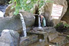 Sri Lanka douche locale et fontaine d'eau