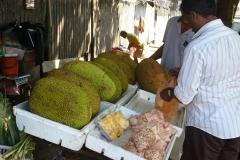 Sri Lanka vendeur de jacquiers fruit jaune