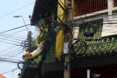 Thaïlande, Bangkok, câbles électriques