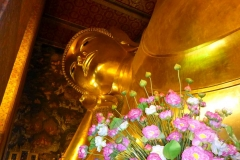 Thaïlande, Bangkok, temple Wat Phra Chetuphon boudha allongé