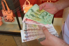 Thaïlande, Bangkok, billets de banque, monnaie : BAHTS