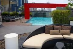 Thaïlande, Bangkok, hotel avec piscine sur le toit