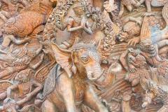 Thaïlande, Bangkok, sculpture de temple