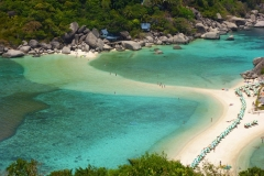 Thaïlande, trois îles Koh Nang Yuan, langue de sable