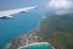 Thaïlande, île Koh Samui, Vue aérienne