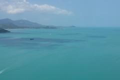 Thaïlande, île Koh Samui, Vue aérienne mer