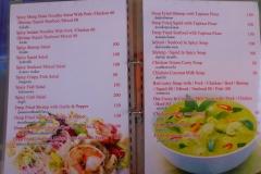 Thaïlande, île Koh Samui, menu restaurant thaï