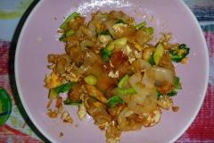 Thaïlande, île Koh Samui, Chaweng, Pad Thaï crevettes nouilles larges
