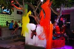 Thaïlande, île Koh Samui, Chaweng découpe et sculpture de glace