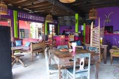 Thaïlande, île Koh Samui, Bophut plage bar rue départ bateau