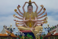 Thaïlande, île Koh Samui, Bophut, temple Wat Plai Laem, Shiva