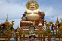 Thaïlande, île Koh Samui, Bophut, temple Wat Plai Laem, gros bouddha