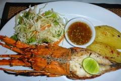 Thaïlande, île Koh Samui, Chaweng, langouste grillée