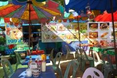 Thaïlande, Phuket, Kata plage et restaurant sur la plage