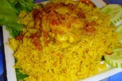 Thaïlande, Phuket, street food, riz frit à l'ail au poulet