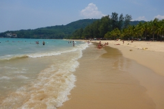 Thaïlande, Phuket, Kata beach, plage publique de Kata