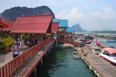 Thaïlande, Parc national de Ao Phang-nga, Koh Panyee, village musulman