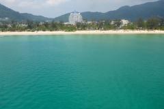 Thaïlande, Phuket, Patong plage, vue aérienne