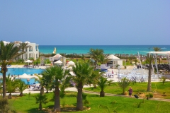 Tunisie, Djerba hôtel Vincci Helios et mer turquoise