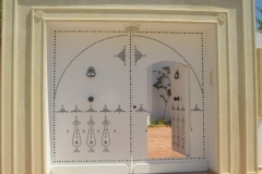 Tunisie, Hammamet Nabeul, maison et porte