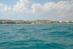 Tunisie, Hammamet plage vue de la mer