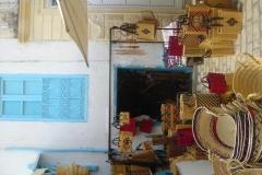 Tunisie, Nabeul vanneries et panier en osier