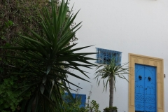 Tunisie, Sidi Bou Saïd, maison blanche et bleue