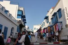 Tunisie, Sidi Bou Saïd rue principale