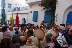 Tunisie, Sidi Bou Saïd, procession