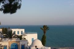 Tunisie, Sidi Bou Saïd, vue de la mer Méditerranée