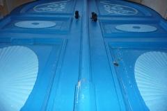 Tunisie, Sidi Bou Saïd, maison porte bleue