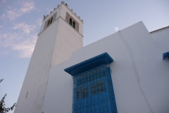 Tunisie, Sidi Bou Saïd, minaret