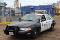 USA, Côte ouest, Los Angeles, voiture de police de Santa Monica
