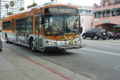 USA, Côte ouest, Los Angeles, bus vers Malibu