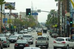 USA, Côte ouest, Los Angeles, rues et voitures en circulation