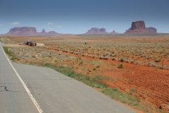 USA, Côte ouest, Monument Valley, route
