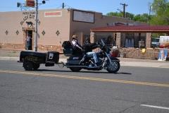 USA, Côte ouest, moto à remorque