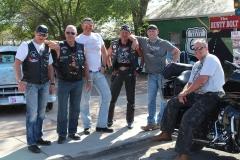 USA, Côte ouest, motards Harley Davidson