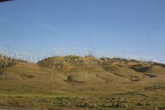 USA, Côte ouest, éoliennes vers Oakdale Californie