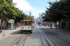 USA, Côte ouest, San Francisco, Cable car historique