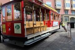 USA, Côte ouest, San Francisco, Cable Car aiguillage