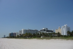 Floride, USA, South Beach, la plage de sable blanc, mer turquoise