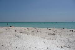 Floride, USA, South Beach, la plage de sable blanc, mer turquoise