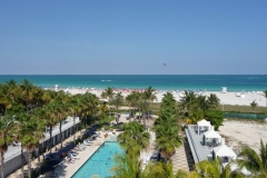 Floride, USA, South Beach, hôtel sur la plage