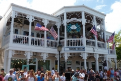 Floride, USA, Key West, animation dans la rue principale