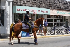 Floride, USA, Key West, police à cheval